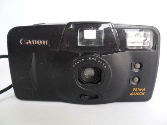 Câmera Máquina Fotográfica Antiga Canon Prima Quick Leia Anu