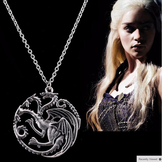 Colar Dragão Daenerys Games Of Thrones Frete Barato