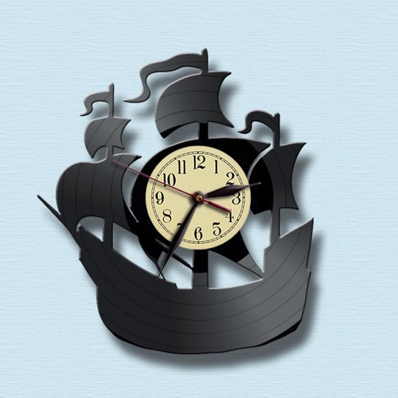 Veleiro Barco Navio Iate Iatismo Naútica Relógio De Parede