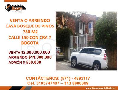 *venta Casa (lote 750m2) Bosque De Pinos