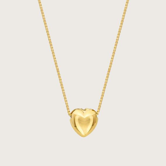 Gargantilha Coração Em Ouro 18k (750)