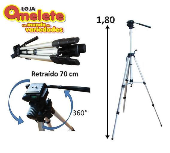 Tripe Universal Aluminio 1.70mt Camera Filmadora Telescopio
