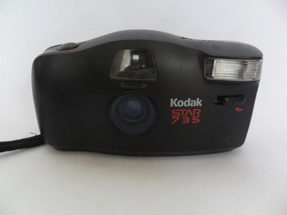 Câmera Máquina Fotográfica Antiga Kodak Star 735 Coleção