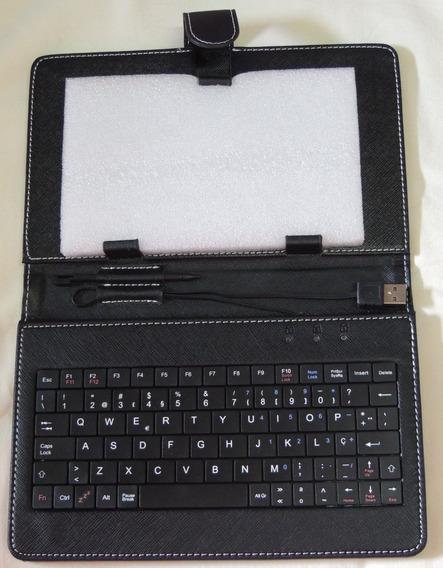 Capa Case Tablet 7 Teclado Usb + Caneta Touch