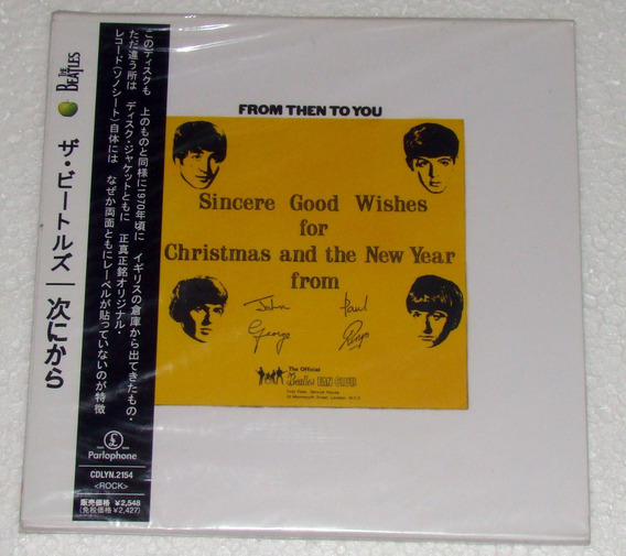 The Beatles From Then To You Cd Japones C/obi Sellado Kktus