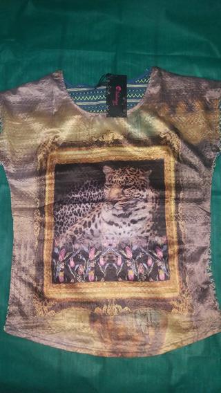 Blusa Barata Detalhe De Onça