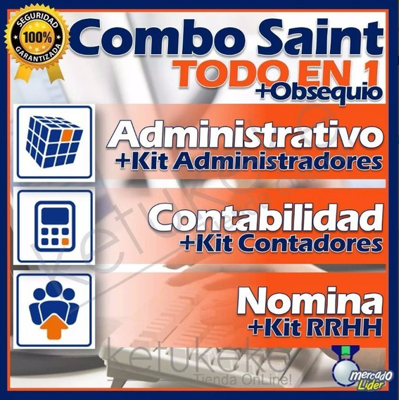 Kit Combo Software Administrativo Contabilidad Nomina Saint