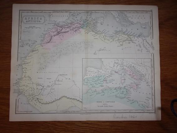 Mapa Africa Antigua Original De Londres 1861