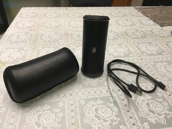 Caixa De Som Jbl Bluetooth Flip 2 Com Case E Cabo Carregador