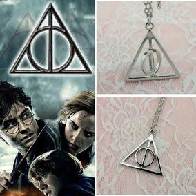 Colar Harry Potter Reliquias Da Morte Centro Giratorio Hp