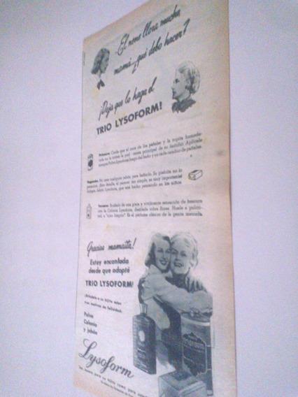 Antigua Publicidad Jabon Polvo Colonia Lysoform - Trío Bebes