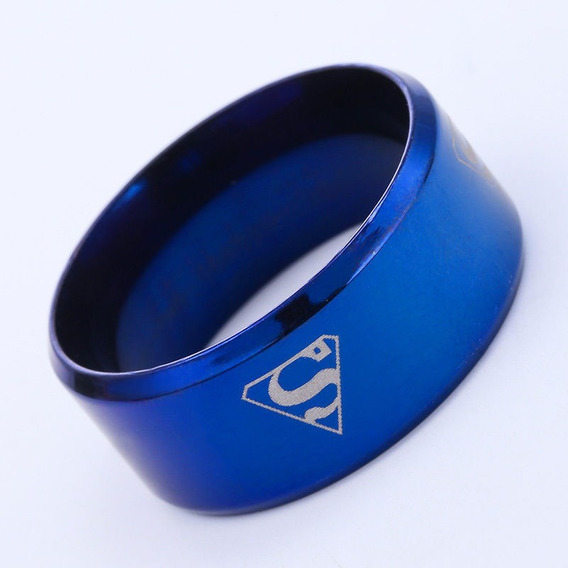 Anillo Superman Azul Acero Inoxidable