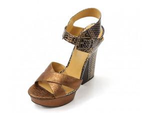Zapatos Dorados Con Animal Print Nine West
