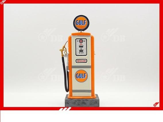 Miniatura Pump Bomba De Gasolina Gulf Diorama 1/18
