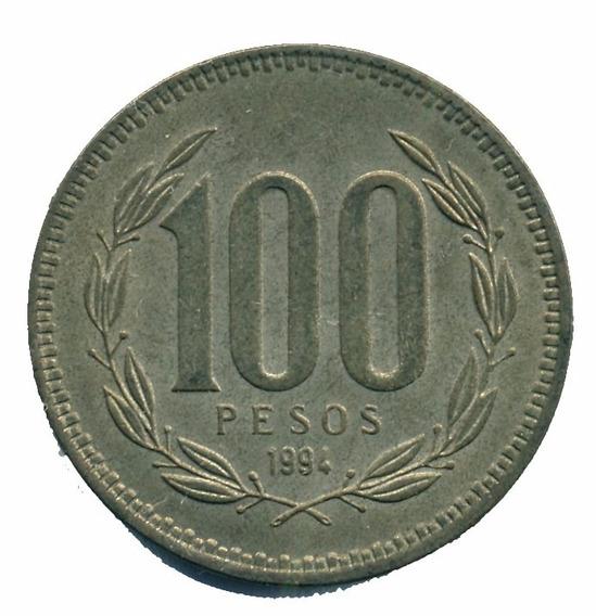Chile Moneda De 100 Pesos Año 1994 Buen Estado+