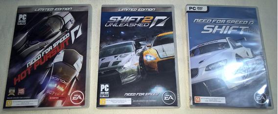 3 Jogos P/ Pc Need For Speed (hp + Shift + Shift2) Originais