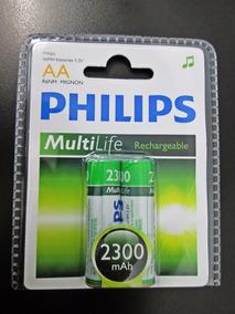 Pilhas Recarregáveis Phillips Multilife Aa R6nm Mignon