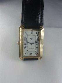 Relógio Cartier Original - Folhado A Ouro - Corda -revisado