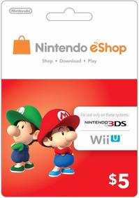 Nintendo Eshop Card - 5 Dolares - Manvicio Store