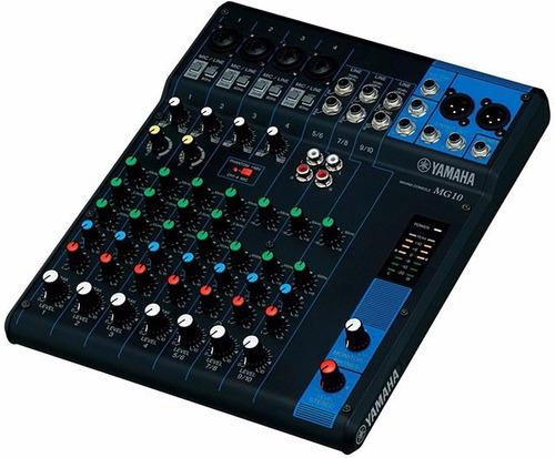 Consola Mixer Mesa Yamaha Mg10 10 Canales Nueva Garantía