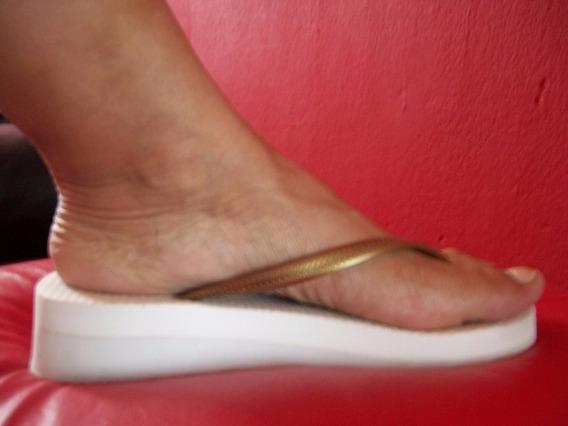 Ojotas Altas Mujer Blancas Usadas N° 37 Impecables
