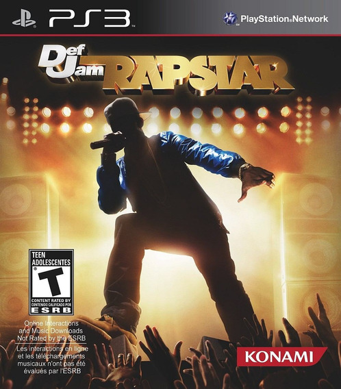 Jogo Def Jam Rapstar Playstation 3 Ps3 Cantar Rap
