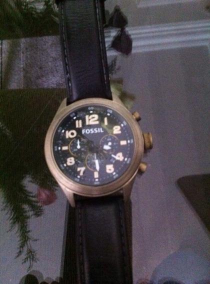 Relógio Fossil Mod.de 5000 Pulseira De Couro Estado Novo