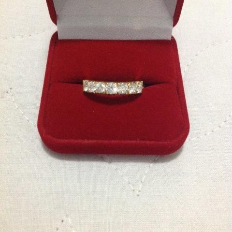 Anel Meia-aliança 1.4 Ct De Diamantes 20 Pontos Vs Cor E-f