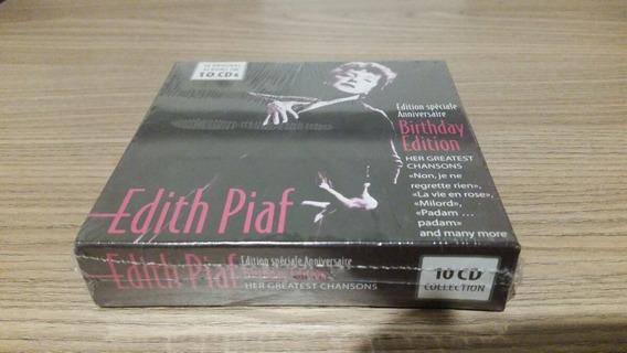Cd Edith Piaf Birthday Edition 10 Cd Lacrado Frete Gratis