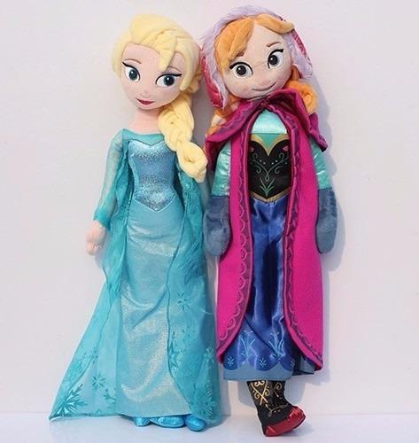 Hermosas Muñecas Anna + Elsa Frozen De Disney 40cm Nuevas