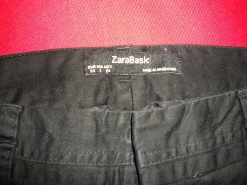 Zara - Pantalon- Gabardina- Talle 34