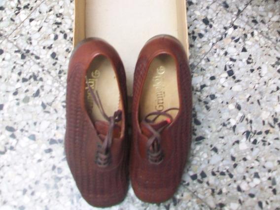 Zapato Trenzado Color Marrón Nuevo Sin Uso Para Hombres