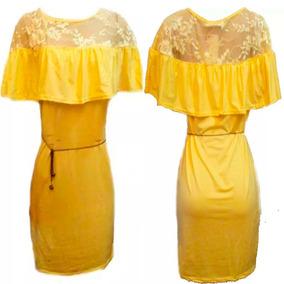 Vestido Saida De Praia Amarela Saida De Banho Moda Praia