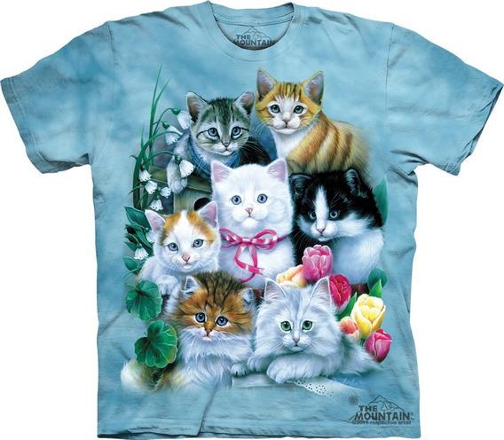 Playera 4d - Unisex Infantiles - 1172 Kittens - Pets.