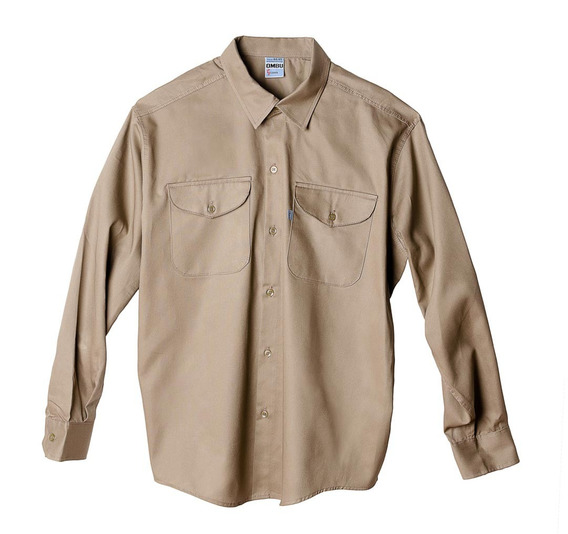 Camisa De Trabajo Ombu, Color Beige, Talle 44