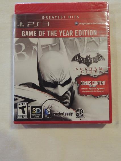 Jogo Ps3 Batman Arkham City- Blu Ray - Greatest Hits