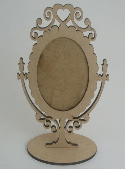 Porta Retrato Oval Princesa Foto 10x15 Mdf - 12 Peças