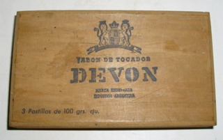 Antigua Caja Vacía De Madera De Jabon Devon