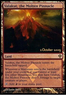 Tcg Magic Valakut, The Molten Pinnacle Lote De 04 Cards