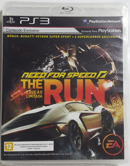 Need For Speed ( The Run ) Em Inglês { Ps3 }