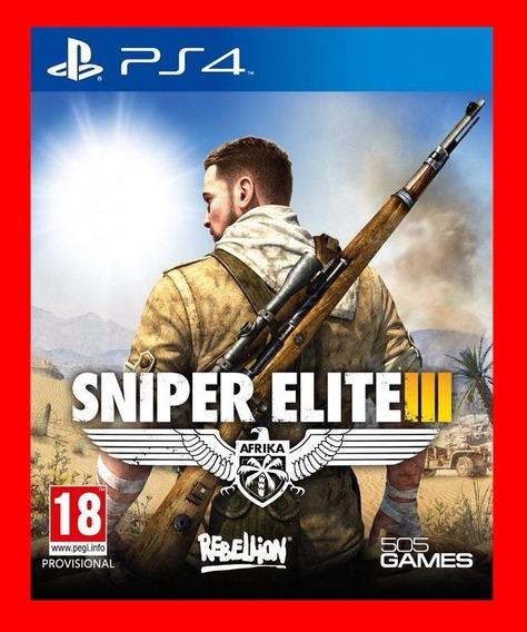 Sniper Elite 3 Ps4 Original 1 Psn Envio Rápido!