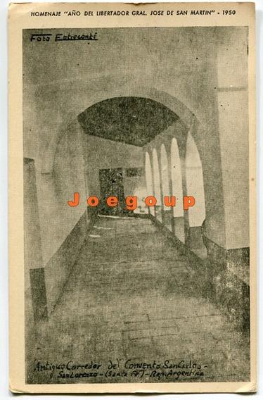 Foto Tarjeta Convento San Carlos San Lorenzo Santa Fe 1950