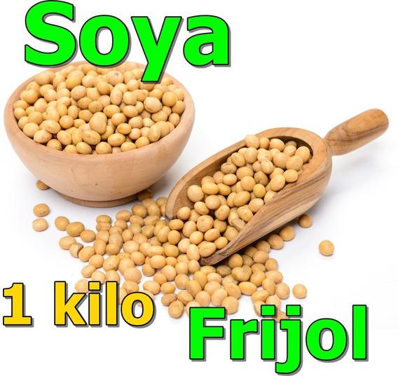 1 Kilo De Soya Entera Frijol Soja Soia Semilla Para Leche