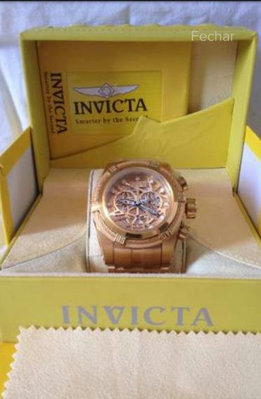 Relógio Invicta Skeletom Completo (18 K )