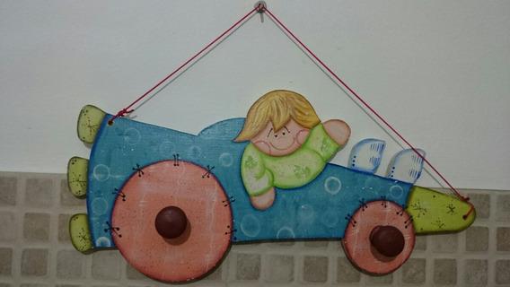 Perchero Infantil Pintado A Mano