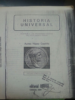 Historia Universal 8vo Grado Aureo Yepez Castillo