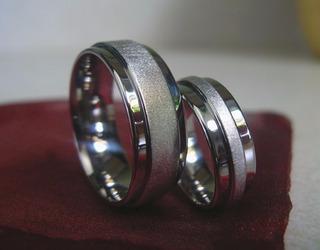 Exclusiva Linea De Alianzas-acero-bodas-matrimonio-novios