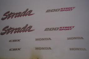 Kit Adesivos Honda Cbx 200 Strada 1994 Preto