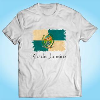 Camisa Rio De Janeiro - Bandeira - Brasil - Personalizada