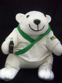 Urso Pelúcia Judoca Coca Cola Usado Ler O Anúncio H 5 E16 @